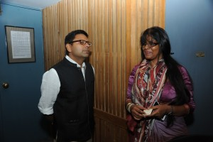 Communication specialist Anup Sharma with Sophy Sivaraman of the Indian Documentary federation