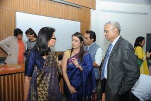 L-R: Naina Lal Kidwai-Executive Director HSBC Bank, Suparnaa Chadda -Founder WE, Vijay Chadda- CEO Bharti Foundation