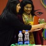 prerna-volunteer we handing plant memento to speaker anna vetticad